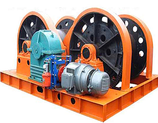 Double drum winch provided by Ellsen