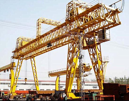 Double girder truss crane