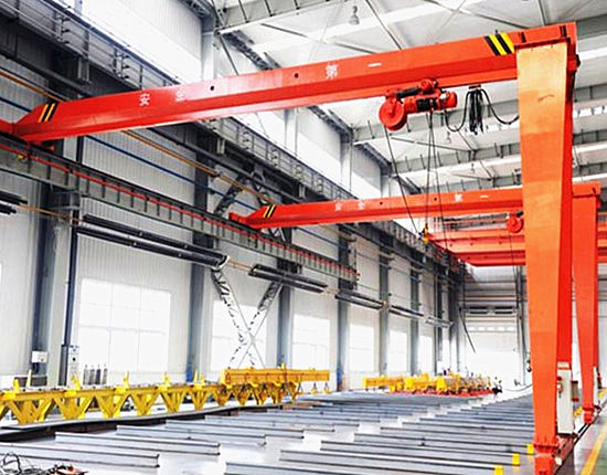 Indoor semi gantry crane for sale