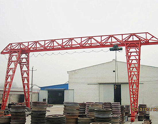 Single girder outdoor truss crane for sale