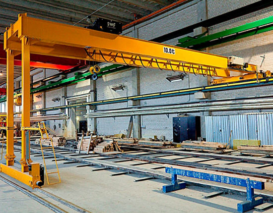 Workshop semi gantry crane