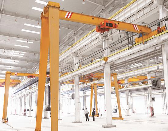 semi gantry crane with single girder