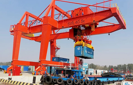 rail mounted crane with high quality