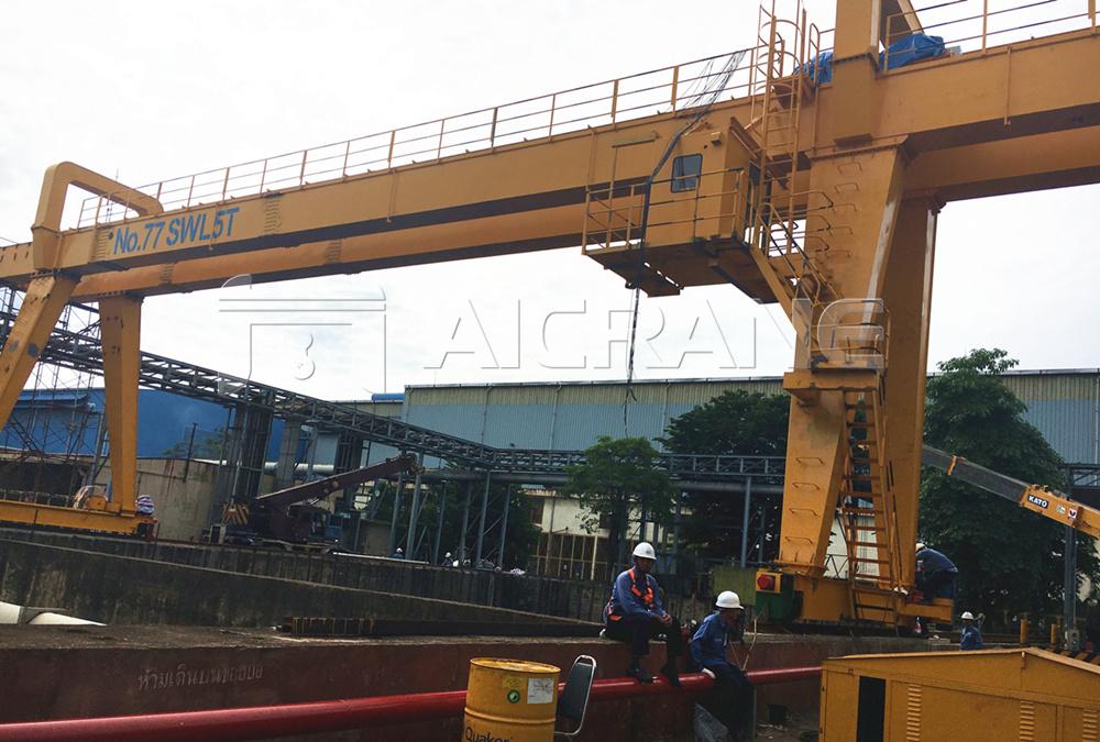 5ton double girder crane