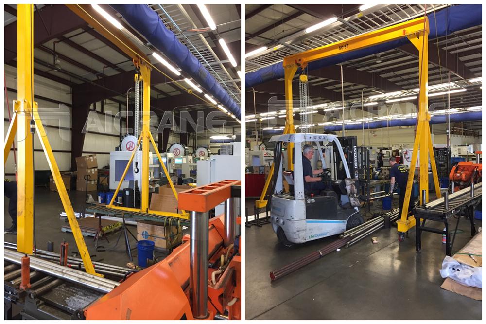 5ton gantry crane installation