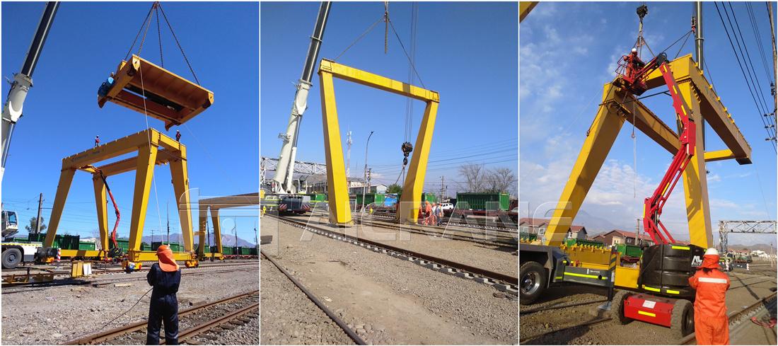 gantry cranes installation