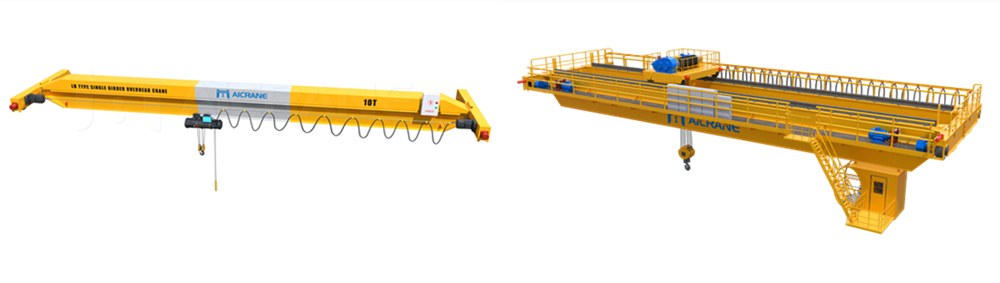 single girder and double girder overhead cranes