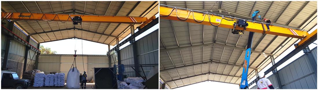 3ton overhead crane in Bolivia