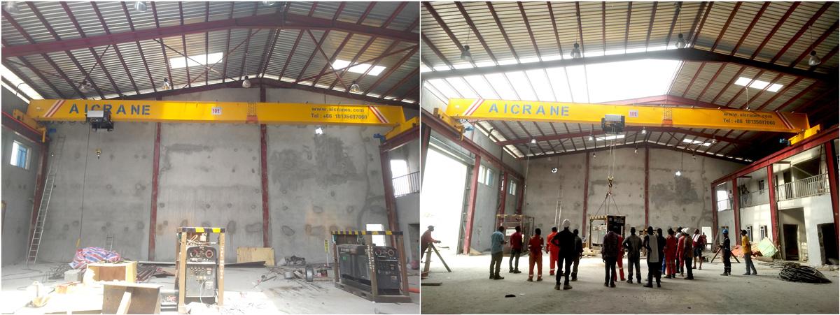 HD 10ton overhead crane Nigeria