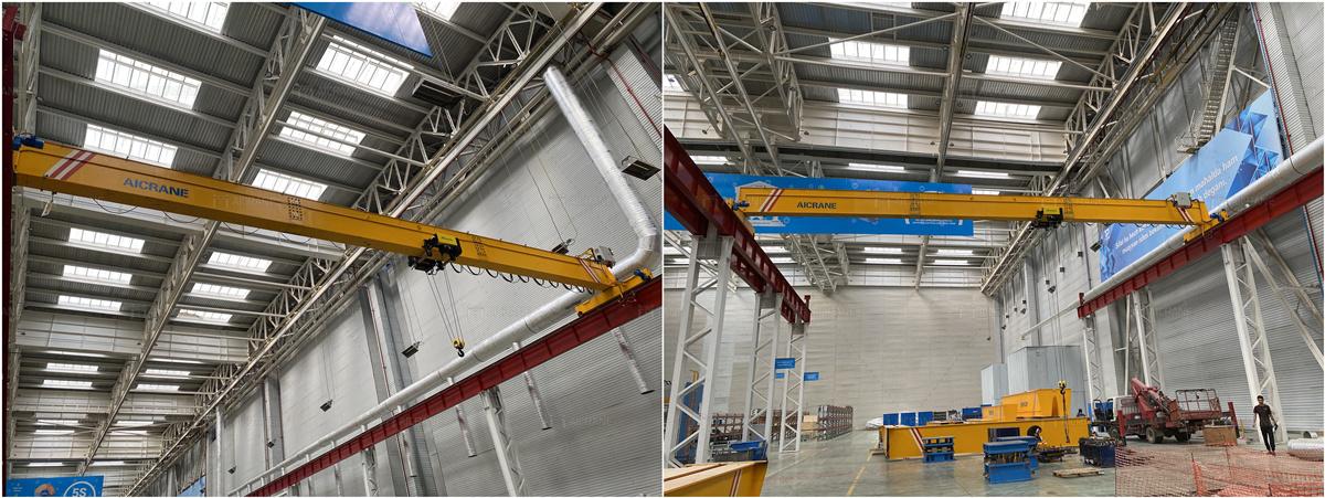 HD10ton overhead crane in Uzbekistan