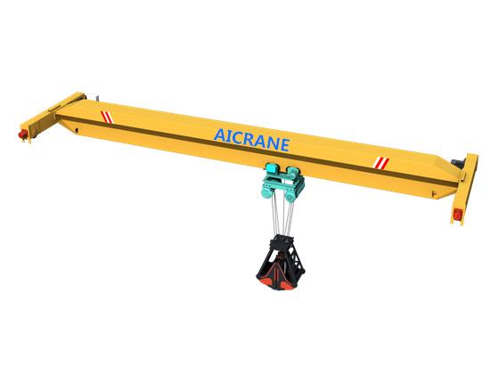 single girder grab crane