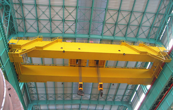 overhead crane with double trolley