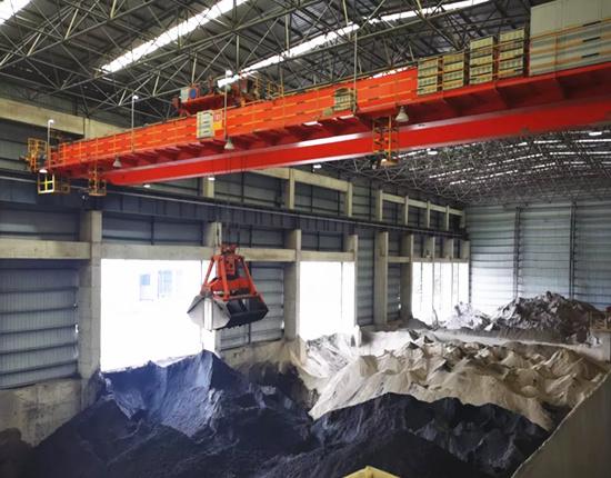double girder grab crane