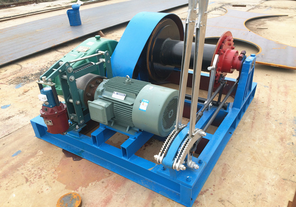 electric winch for piling work